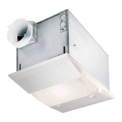 Broan-Nutone 9965 Bathroom Heat / Fan / Light / Night-Light - The versatile NuTone 9965 Bathroom Heat / Fan / Light / Night-Light is a powerful ventilator that will keep your home or commercial bathroom fresh and smelling clean. This multi-purpose ventilation fan includes a four-switch function for fan-forced heating and a 100W light or 7 W night light, which can be used individually or in combination. The heating element is nickel-chrome, and operates at a powerful 1500W.This ventilation fan fits a 4-inch duct, and includes a built-in junction box for simple plug-in installation of the heater, fan motor and light. Finished in neutral polymeric white with a handsome, streamlined design, the engineered grille can be painted to suit any decor. This unit is not designed for installation over a tub or in a shower unit.Dimensions:Housing: 9.75L x 14W x 7.75H inchesGrille: 10.875L x 16W inchesAbout Broan-NuToneBroan-NuTone has been leading the industry since 1932 in producing innovative ventilation products and built-in convenience products, all backed by superior customer service. Today, they're headquartered in Hartford, Wisconsin, employing more than 3200 people in eight countries. They've become North America's largest producer of medicine cabinets, ironing centers, door chimes, and they're the industry leader for range hoods, bath and ventilation fans, and heater/fan/light combination units. They are proud that more than 80 percent of their products sold in the United States are designed and manufactured in the U.S., with U.S. and imported parts. Broan-NuTone is dedicated to providing revolutionary products to improve the indoor environment of your home, in ways that also help preserve the outdoor environment.