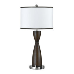Cal Lighting - Cal Lighting LA-60006TB-2R Hotel 1 Light Table Lamps - Features: