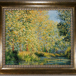 overstockArt.com - Monet - Bend in The Epte River Oil Painting - Hand painted oil reproduction of a famous Monet painting, Bend in the Epte River Near Giverny. The original masterpiece was created in 1888. Today it has been carefully recreated detail-by-detail, color-by-color to near perfection. While Monet successfully captured life's reality in many of his works, his aim was to analyze the ever-changing nature of color and light. Known as the classic Impressionist, one can not help but have deep admiration for his talent. This work of art has the same emotions and beauty as the original. Why not grace your home with this reproduced masterpiece? It is sure to bring many admirers!