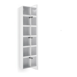 WS Bath Collections - Ciacole 8054.09 Cabinet Mirrored Door - Ciacole 8054.09 Cabinet with Mirrored Door in White