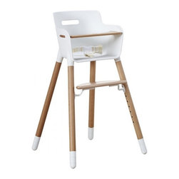 5-in-1 High Chair - With the Flexa High Chair you can adjust the height of and move the foot plate, ensuring that your child always sits properly.