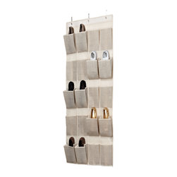 None - Kennedy Home Collection Beige 20-pocket OTD Shoe Organizer - For an easy, stylish shoe storage solution turn to the Kennedy Home Collection 20-pocket OTD Shoe Organizer. This storage piece features an over-the-door design, three slip-on hooks, and easy installation.
