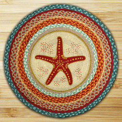 Earth Rugs - RP-397 Star Fish Round Patch 27in.x27in. - Star Fish Round Patch 27 in. x27 in.