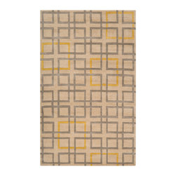 Surya - Surya Artist Studio ART-231 (Beige, Grey, Gold) 5' x 8' Rug - True to its name, Artist Studio is an assortment of the best from the leading designers around the world. A palette of deep, rich colors paired wilh hand-tufted details of high/low pile make this collection exceptionally textured and multi-dimensional. All rugs in this collection are hand-tufted of 100% New Zealand.