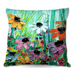 DiaNoche Designs - Pillow Woven Poplin - Stories from A Field Act lxi - Toss this decorative pillow on any bed, sofa or chair, and add personality to your chic and stylish decor. Lay your head against your new art and relax! Made of woven Poly-Poplin.  Includes a cushy supportive pillow insert, zipped inside. Dye Sublimation printing adheres the ink to the material for long life and durability. Double Sided Print, Machine Washable, Product may vary slightly from image.