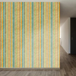 WallsNeedLove Painted Stripes Self-Adhesive Wallpaper - Accent play and craft rooms with bright colors of the WallsNeedLove Painted Stripes Self-Adhesive Wallpaper. Sure to stand out against your décor, this colorful stripped wallpaper is constructed of water-resistant fab-tac adhesive vinyl. Being self-adhesive has its perks for simple installation. Just peel the back and stick to the desired space for an instant décor upgrade.About Walls Need LovePeel. Stick. Repeat. Walls Need Love started in 2009. They are a small company filled with people-loving sticker fiends. Walls Need Love wants to make your house the stylish dream home you've always wanted and do it with easy-to-use vinyl wall decals. Walls Need Love has been featured in Better Homes and Gardens, Good Housekeeping, USA Today, Fab, and Apartment Therapy.