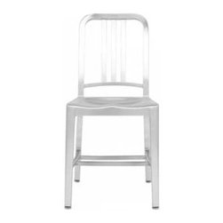 EMECO - Emeco, Navy Chair Since 1944 - Emeco is known for durability, craftsmanship and quality. There are other metal or 'Navy' chairs available for less, but none match the quality and craftsmanship of Emeco. Handmade in the US