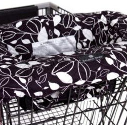 Balboa Baby - Balboa Baby Shopping Cartand High Chair Cover in Black & White Leaf - The soft, quilted Balboa Baby Shopping Cart and High Chair Cover provides a clean and secure environment for babies with a 360 degree germ-free zone.