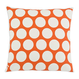 Bubble Burst Throw Pillow - This pillow�۪s mid-century modern design weaves pops of complementary color in an eye-catching effect that excites. We think you'll find it equally at home in your bedroom or on the couch.