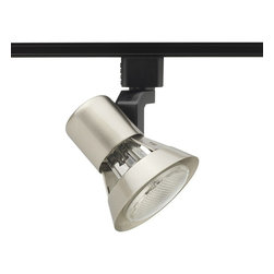 Juno Lighting - Trac-Lites R531 PAR20 Flared Gimbal Track Light, R531sc - Trac-Lites PAR20 Flared Gimbal Track Light has a compact and contemporary appearance that is dynamically achieved with the tight-to-the-trac feature. The semi-exposed lamp design gives the fixture a lighter, open aesthetic, similar to traditional gimbal ring fixtures but with a little extra flare.