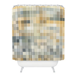 DENY Designs - madart inc Desert Sand Shower Curtain - Who says bathrooms can't be fun? To get the most bang for your buck, start with an artistic, inventive shower curtain. We've got endless options that will really make your bathroom pop. Heck, your guests may start spending a little extra time in there because of it!