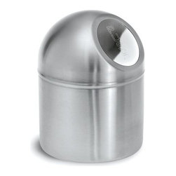 Blomus - Intro Stainless Steel Push Boy Waste Bin - Made of stainless steel. 1-Year manufacturer's defect warranty. 5.3 in. Dia. x 7.11 in. H
