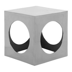 Safavieh - Safavieh Tellurium Cube Aluminum Stool X-A8055XOF - What's your angle? Because modern life necessitates form and function, the Gunnar cube aluminum stool reflects both. Its stunning silver polished aluminum finish complements the clean geometric forms. Seductive in its simplicity, its classic shape is a we