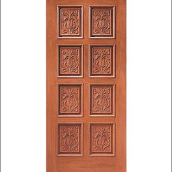 Carved and Mansion Entry Doors Model # 2 - Our Carved and Mansion doors are hand carved by master craftsman.  They will certainly add to the wow factor of any entrance exterior or interior.  The doors are Mahogany and can be stained and finished in a variety of colors to complement your homes beauty.  You may also like our International collection which is inspired by world design.