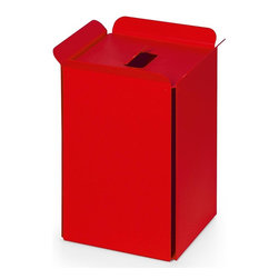 WS Bath Collections - Paper Basket in Red - Paper basket/waste basket. Modern/contemporary design. Designer high end quality. Warranty: One year. Made from powder coated aluminum. Made in Italy. No assembly required. 10.2 in. L x 8.7 in. W x 12.8 in. H (5 lbs.). Spec SheetUnique and fine bath accessories and complements, that provide inspirational solutions for every decor.