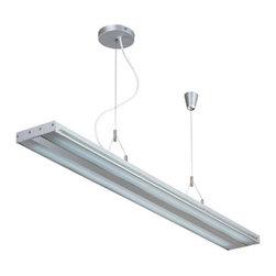 Lite Source - Fluorescent Ceiling Lamp, Silv/Clear, Fluorescent T5/6400K Tube 28Wx2 - Fluor. Ceiling Lamp, Silv/Clear, Fluor. T5/6400K Tube 28Wx2