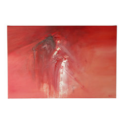 "N/A - 'Open Wounds' Original Painting - ""Open Wounds"" by artist Dan Nash Gottfried is a stunning piece that combines various shades of red with glimpses of white. It's a dramatic statement that will capture attention on any wall."