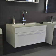 modern bathroom vanities and sink consoles by Modern Bathware