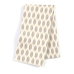 "Gray & Yellow Ikat Dot Custom Napkin Set - Our Custom Napkins are sure to round out the perfect table setting""""_whether you're looking to liven up the kitchen or wow your next dinner party. We love it in this ikat dot in gray & gold on the softest white cotton sateen. as cute as it is contemporary."