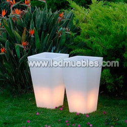 RGB Color Change LED Flower Planter - 1. Waterproof,PE material