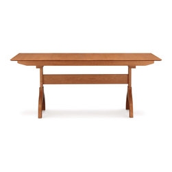 """Copeland Furniture - Copeland Furniture Sarah 38"""" x 60"""" Trestle Extension Dining Tables 6-SAR-21-03 - Extension tables incorporate self equalizing, ball bearing extension glides and a single 24' self storing butterfly leaf for single handed operation.'"""