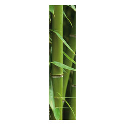 """Wizard & Genius - Bamboo Stripe Wall Decals - This fresh wall decal stripe brings a lush green bamboo forest to you with beautiful graphics. Contains three 18.5"""" x 26.75"""" sheets - 18.5"""" x 80.25"""" assembled. Imported from Germany."""