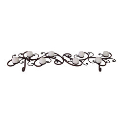 iMax - iMax Scrollwork Tabletop Candleholder X-5001 - Scrollwork Tabletop Candleholder