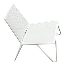 "Series 9 Chair - The Series 9 chair is the piece that started us thinking and designing with purpose. Whether it be outside with family and good friends, an al fresco business meeting, or alone reading the Sunday paper this timeless chair provides an easy respite with a subdued, simple elegance. Powder coated stainless steel with our optional cushion selections make this piece a smart, stylish, and very ""green"" solution to your home or business environment."