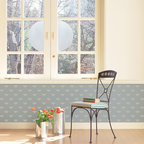 The Buzz Allover Bee Stencil - The Buzz Allover Bee Wall Stencil from Royal Design Studio Stencils. This charming hand painted bee pattern is great in kitchens, children's rooms, nurseries ad bathrooms.