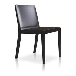 MODLOFT - Frith Dining Chair - Frith dining chair features dyed wood frame with matching leather seat and back.