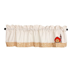 Trend Lab - Trend Lab Paddington Bear Window Valance - 65002 - Shop for Window Treatments from Hayneedle.com! Crown your nursery window in style with the Trend Lab Paddington Bear Window Valance. With a dignified tan and white ticking stripe and a friendly Paddington Bear border in the same hues featuring Paddington's boots marmalade valise and favorite expressions this valance will be an adorable part of the memories you make together. This window dressing coordinates with the Paddington Bear collection by Trend Lab.About Trend LabFormed in 2001 in Minnesota Trend Lab is a privately held company proudly owned by women. Rapid growth in the past five years has put Trend Lab products on the shelves of major retailers and the company continues to develop thoroughly tested high-quality baby and children's bedding decor and other items. Trend Lab continues to inspire and provide its customers with stylish products for little ones. From bedding to cribs and everything in between Trend Lab is the right choice for your children.