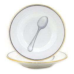 Artistica - Hand Made in Italy - Posata: Rim Pasta/Soup Plate - Posata Collection.