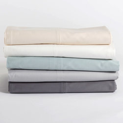 Coyuchi - Coyuchi Sateen Flat Sheet - This luscious Coyuchi flat sheet blends irresistible textures for exquisite comfort. Lustrous on one side and matte on the reverse, the sateen bedding is both elegant and classic. 100% organic cotton sateen; Available in several colors; Machine washable