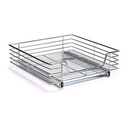 "Household Essentials - Deep Sliding Organizer 20In - These extra deep commercial grade, heavy duty, chrome wire organizers are easy to install. Full extension slides provide easy access in these under cabinet organizers. Comes fully assembled. Mounts to a surface with screws (included). The sliders glide on   ball bearings for smooth and effortless operation and allow for full tray extension.      20"" DEEP SLIDING ORGANIZER  6.25""H x 20""W x 21""D"