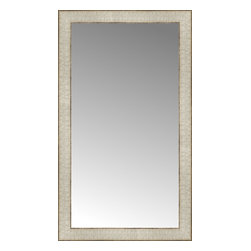 """Posters 2 Prints, LLC - 17"""" x 29"""" Libretto Antique Silver Custom Framed Mirror - 17"""" x 29"""" Custom Framed Mirror made by Posters 2 Prints. Standard glass with unrivaled selection of crafted mirror frames.  Protected with category II safety backing to keep glass fragments together should the mirror be accidentally broken.  Safe arrival guaranteed.  Made in the United States of America"""