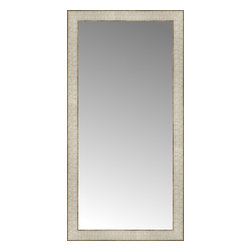 """Posters 2 Prints, LLC - 18"""" x 35"""" Libretto Antique Silver Custom Framed Mirror - 18"""" x 35"""" Custom Framed Mirror made by Posters 2 Prints. Standard glass with unrivaled selection of crafted mirror frames.  Protected with category II safety backing to keep glass fragments together should the mirror be accidentally broken.  Safe arrival guaranteed.  Made in the United States of America"""