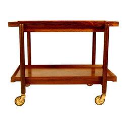 Poul Hundevad Vamdrup Danish Rosewood Bar Cart - Dimensions 29.4ʺW × 20.5ʺD × 22.5ʺH