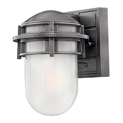 Hinkley Lighting - Hinkley Lighting 1956HE-GU24 Reef Hematite Outdoor Wall Sconce - Hinkley Lighting 1956HE-GU24 Reef Hematite Outdoor Wall Sconce