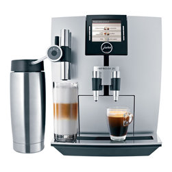 """Jura - Jura Impressa J9.3 One Touch TFT - Silver - The J9 One Touch TFT is the first Jura coffee machine to incorporate TFT display technology (Thin Film Transistor). The TFT 2.75"""" wide color display combines text and graphics, making the J9 even easier to use. Use the TFT display to select your drink choice and then press a button for a delicious specialty coffee drink in under a minute."""