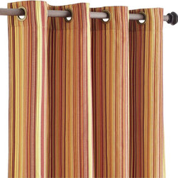 Pallas Stripe Window Panel - Changing out a few window panels in warm colors will make a huge impact.