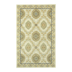 Garland rug in Butter - The classic pattern in Garland is elegant and uses today's fresh palette, which provides much versatility for placement in your home.