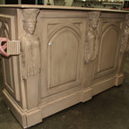 """Princess Motorized TV lift furniture, US made TV lift by Cabinet Tronix - Princess Buffet Retractable TV lift furniture cabinet hand carved buffet is by """"Best of Houzz 2014"""" for service, Cabinet Tronix. This Designer grade made to order TV lift cabinet dimensions will be based on your TV size and other technology component needs.  This piece is shown in a custom dazzling custom finish.  All carvings, decoratives and panel molding are hand done."""
