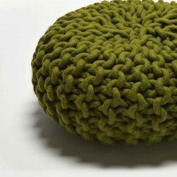 Urchin Pouf Medium By Thomas Eyck - The Urchin Pouf by Thomas Eyck is warm and over-sized hand-knitted pouf. It is perfect for tossing in any room, and will become a sculpture, a comfortable seating, and a floor decor.