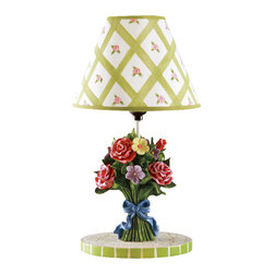 Teamson Design - Teamson Kids Bouquet Collection Table Lamp - Teamson Design - Table Lamps - TD0039A. Add A Beautiful Hand Made Hand Painted Bouquet Collection Lamp To Your Childs Room. Its Sure To Brighten Up Any Childs Day And Make a Wonderful Decorative Piece.