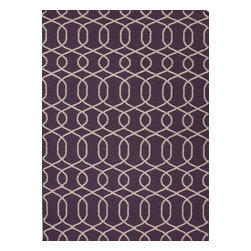 Jaipur Rugs - Flat Weave Moroccan Pattern Pink /Purple Wool Handmade Rug - UB12, 8x10 - A range of beautifully designed flat weaves in a stunning color palette. Hand woven from 100% wool, each rug has its own personality and is versatile and easy to use.