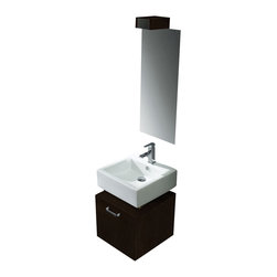 Vigo - Vigo 18-inch Single Bathroom Vanity with Mirror - Constructed with you in mind, this Vigo bathroom vanity has 'perfect' written all over it. No other brand can match Vigo's style, quality and design.