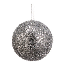 Silk Plants Direct - Silk Plants Direct Glitter Ball Ornament (Pack of 24) - Silver - Pack of 24. Silk Plants Direct specializes in manufacturing, design and supply of the most life-like, premium quality artificial plants, trees, flowers, arrangements, topiaries and containers for home, office and commercial use. Our Glitter Ball Ornament includes the following: