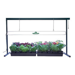 Hydrofarm - Hydrofarm Jump Start Grow Light System 4' - Build your very own mini-greenhouse with this Hydrofarm Jump Start grow light system. The 4-foot-wide system comes with super-efficient T5 lights and reflective finish that increases plants exposure to light to promote faster growth.