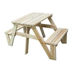 Lohasrus Patio Kids Picnic Table - If you're a DIYer, then you'll love putting your own touches on this unfinished kids' picnic table. Paint it any way you like or just leave it natural, it's up to you!