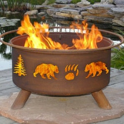 Bear & Tree Outdoor Fire Pit - Now you can enjoy the beauty of the great outdoors anywhere you are with the Bear & Tree Outdoor Fire Pit. -Mantels Direct